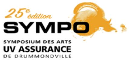Symposium des arts UV Assurance de Drummondville Logo