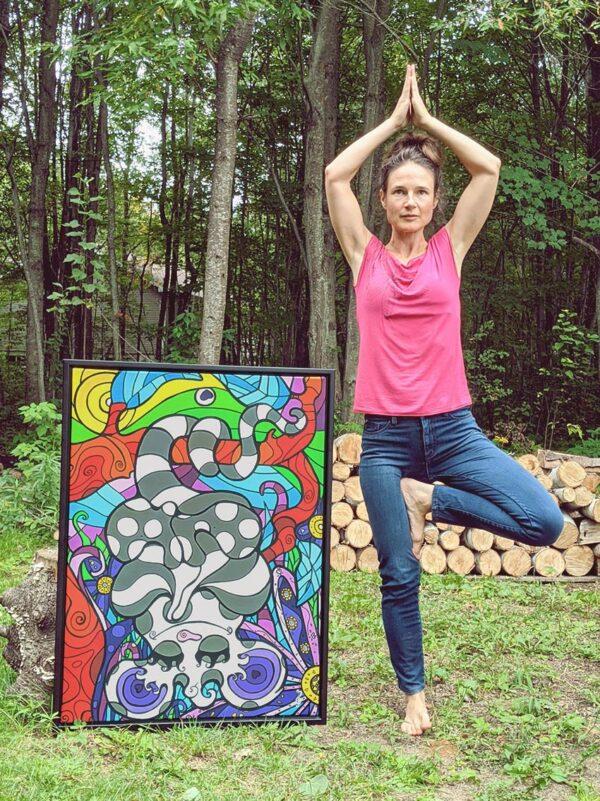 Artiste peintre Nancy Fournier opossum