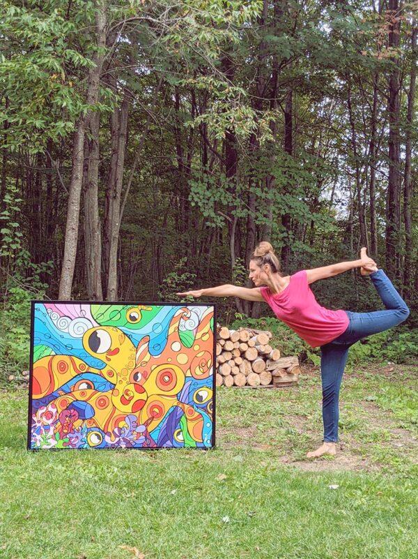Artiste peintre Nancy Fournier pieuvre