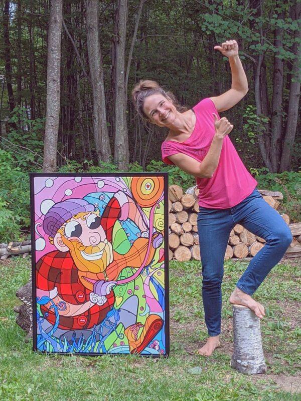 Artiste peintre Nancy Fournier toile du bucheron