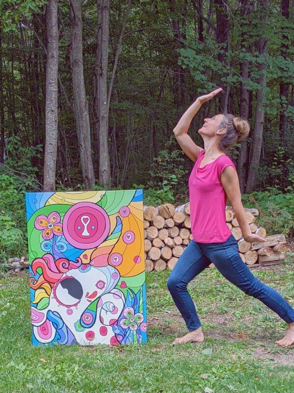 Artiste peintre Nancy Fournier licorne