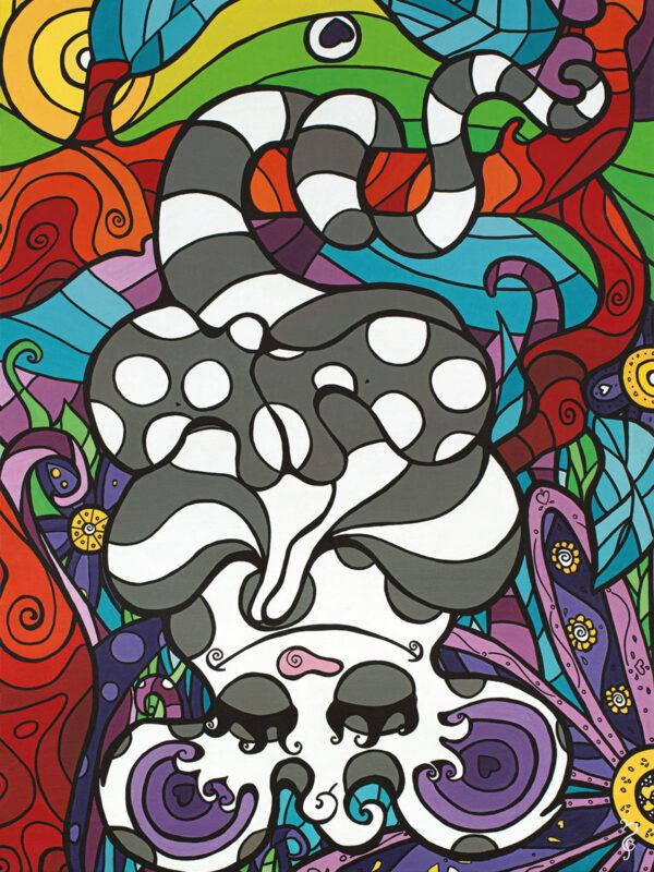 Eau Possum, toile 28x38, acrylique