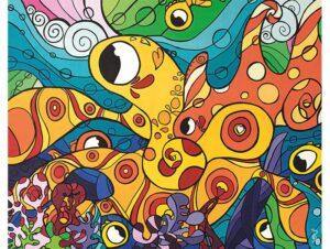 Oeuvre, toile 48x38, acrylique